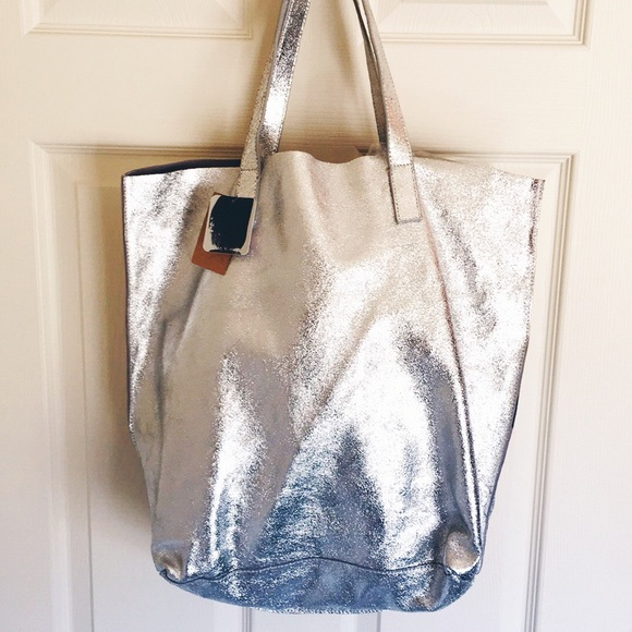 Silence + Noise Leather Tote 68af6ae1bf3cd